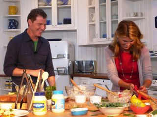 Bobby Flay and Lori Loughlin