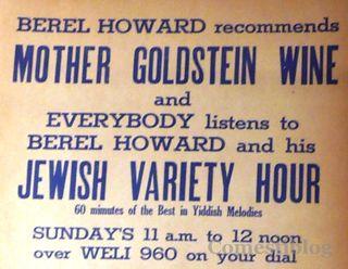 Days of Kosher Wine and Radio
