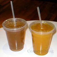 Lemonade and Passion Fruit juice
