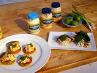 Egg Salad on English Muffins and Chicken Gyro