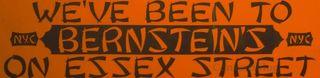 Bernstein's bumper sticker