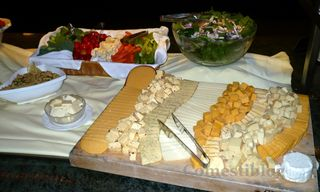 Crudités, Salad, and Cheese