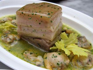 Slow-Braised Pork Belly plate