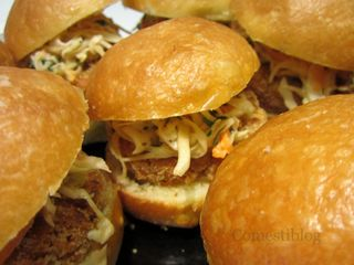 Mini Salmon Sliders with Asian Slaw