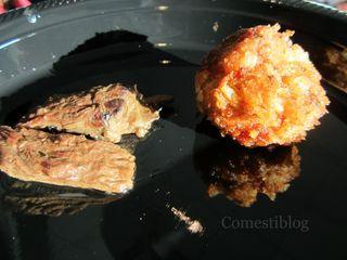 Skirt Steak and Crab Cake