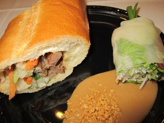 Roast Pork Bánh Mì and Summer Roll
