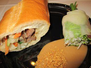 Roast Pork Bánh Mì and Summer Roll