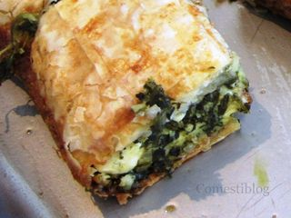 Redwood Deli's Spinach Pie (Spanikopita)