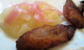 Yuca con Mojo and Plátanos Maduros Fritos