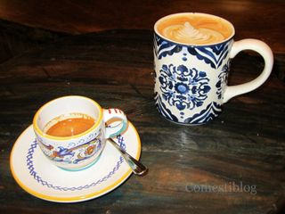 Espresso and caffè latte