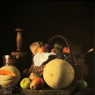 Still Life with Melons and Basket