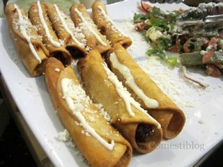 Flautas and Cactus Salad