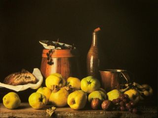 Still Life with Quince and Jug