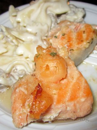 Salmon, Shrimp, and Pasta