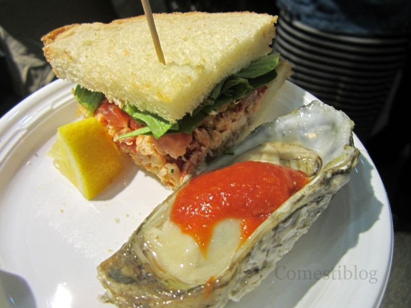 Lobster BLT and Blue Point Oyster