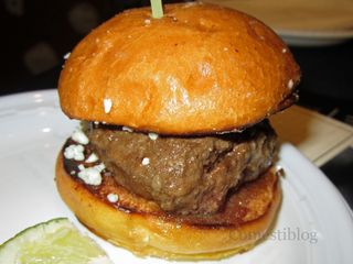 Beef Slider with Blue Cheese